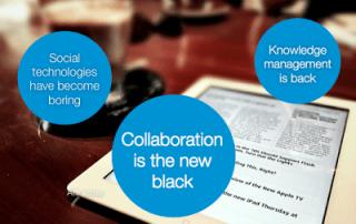 Drie trends in kennismanagement: collaboration, social technologie en terugkeer van het kennismanagement