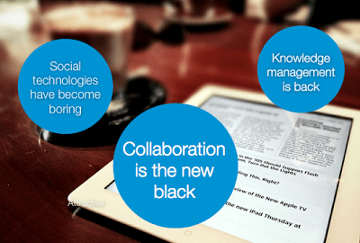 Drie trends in kennismanagement: collaboration, social technologie en terugkeer van het kennismanagement