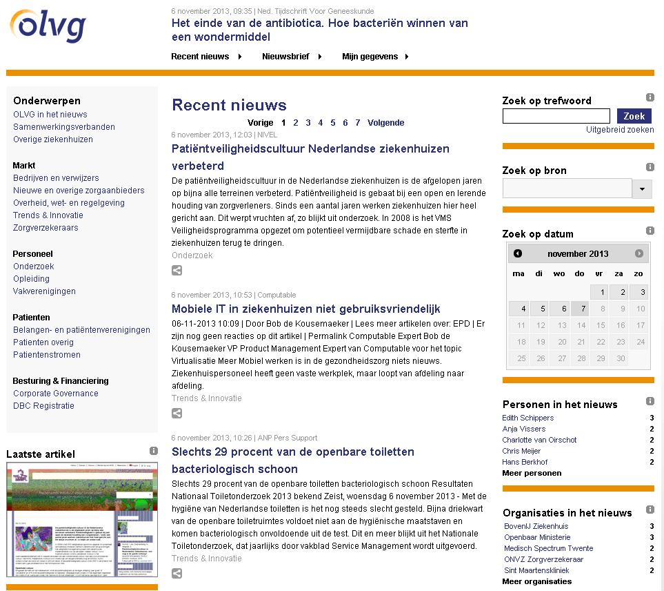 Nieuwsportaal OLVG