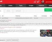 De inbox van de nieuwe rode vormgeving van de HowardsHome Curation Hub
