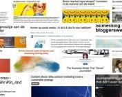 Collage van de 14 belangrijkste marketing posts volgens HowardsHome Inspire en Freek Janssen