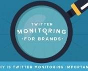 Twitter monitoring voor merken - infographic