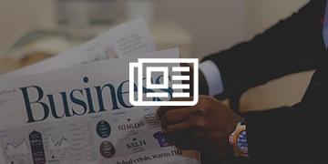 Afbeelding van een krant als achtergrond voor ons product Nieuwsvoorziening